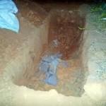 homem enterrado vivo