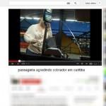 Cobrador de ônibus de Curitiba diz ter sido agredido por passageira