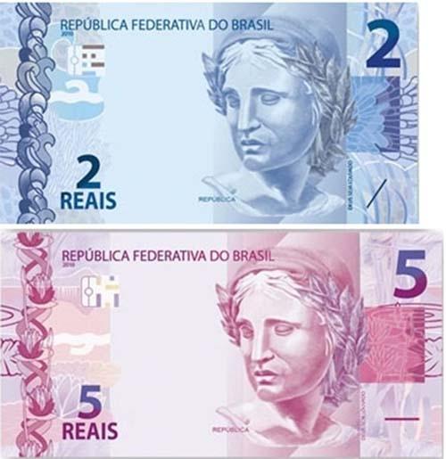 Novas cédulas de R$ 2 e R$ 52