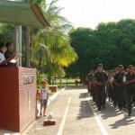General do Exército Brasileiro realiza inspeção no Tiro de Guerra