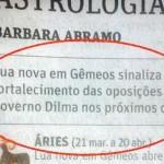 'Folha de São Paulo' usa horóscopo contra presidenta