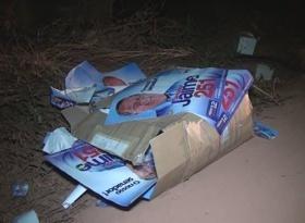 COMEÇOU: Materiais de campanha de candidatos são descartados em estrada de Alta Floresta