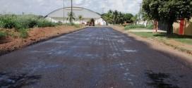 Prefeitura conclui trecho de asfalto da Rua A-6 sentido rua dos esportistas