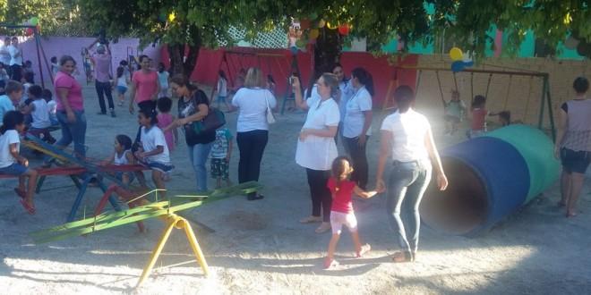 Parquinho infantil da Anjo da Guarda é recuperada em parceria com a Casa da Amizade