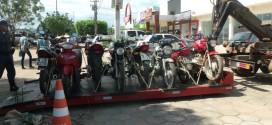 Blitz apreende 18 motocicletas na manhã de hoje
