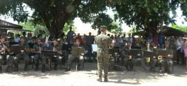 Banda do exército se apresentou no desfile