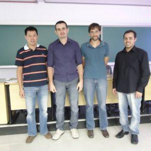 Professor Guilherme ( segundo da esquerda para direita) e componentes da Banca