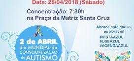 AMA/AF realizará no próximo sábado a 3° Caminhada de Conscientização de Autismo