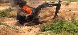Ibama destrói maquinários utilizados em garimpo ilegal na região de Juruena
