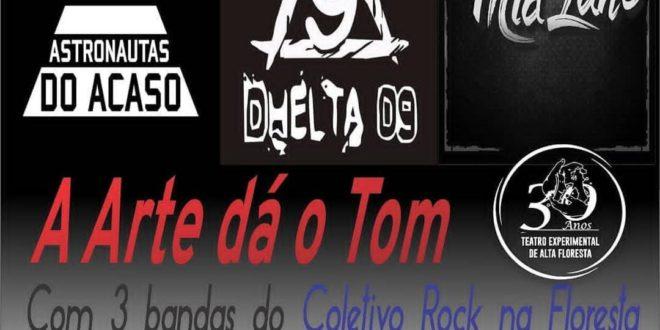 'A arte dá o Tom' Três bandas de rock promovem show no espaço TEAF neste sábado 23