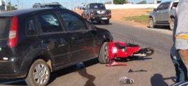 Motociclista fica ferido em acidente com carro na MT-208