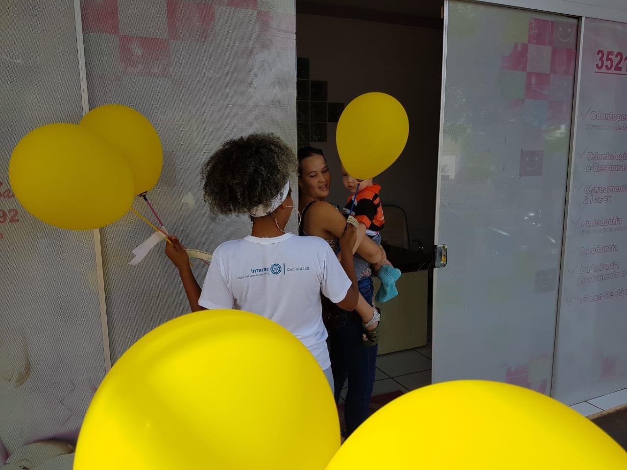 Setembro Amarelo Interact Entrega Mais De Cem Balões Com
