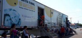 Mais de 150 pessoas passaram pela 'Carreta da Hanseníase' somente no primeiro dia de atendimento em Alta Floresta