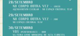 Grupo Comadança realiza atividades artísticas no espaço cultural TEAF a partir do dia 28