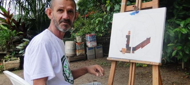 ARTE DE LUTO: morre Paulinho, que pintou em vida a história de Alta Floresta
