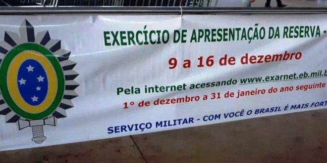 Exército Brasileiro convoca reservistas que prestaram serviço militar nos últimos cinco anos