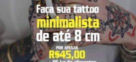 """Local para a realização da """"Tattoo Solidária"""" foi definido; campanha começa hoje"""