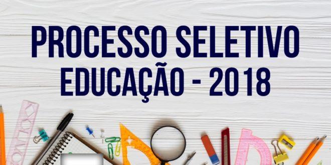 Lançado período de inscrições do Processo Seletivo da Educação para 2019