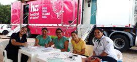 Pacientes de Paranaíta passaram por atendimento na Carreta do Hospital de Amor