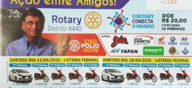 Ação Entre Amigos do Rotary Club Distrito 4440 irá sortear dois carros HB20 e oitos motos Biz