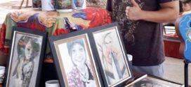 Artistas locais apresentaram suas obras durante o Movimento Cultural 'Praça Ativa'