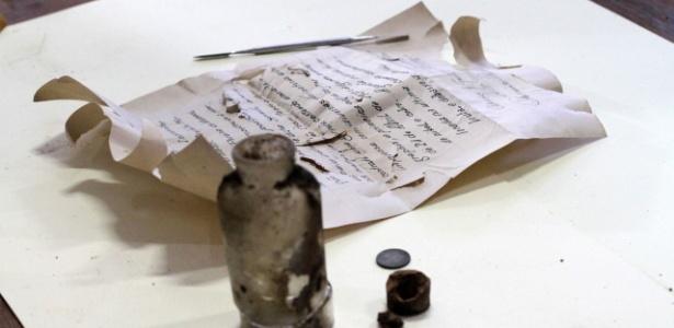 Manuscrito de garrafa