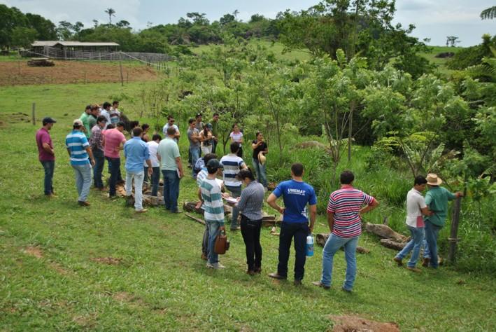 Acadêmicos de agronomia conhecem sistema agroflorestal implantado em Alta Floresta