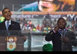 Falso intérprete da cerimônia