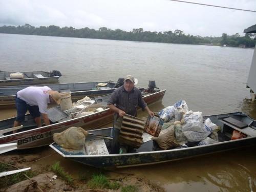 Até debaixo da chuva, Mutirão de Limpeza do Rio Teles Pires foi o melhor10
