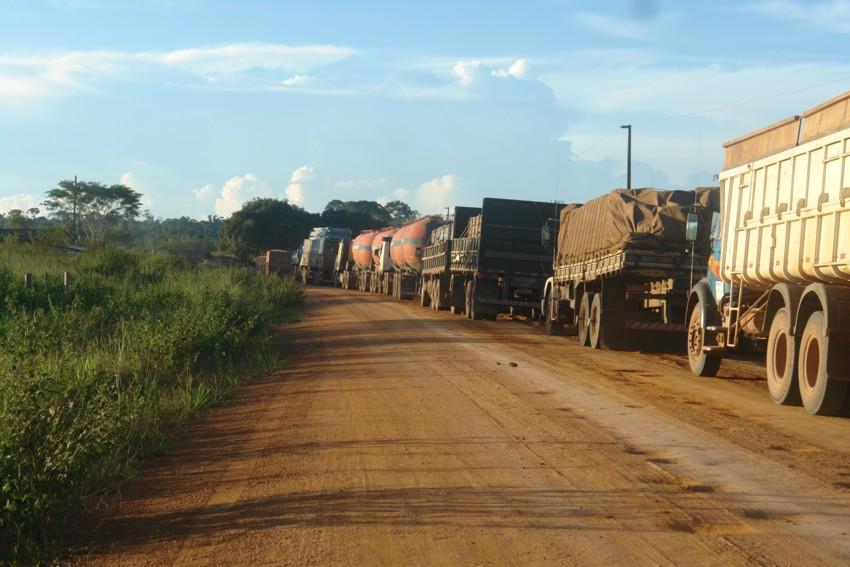 estrada bloqueada usina são manoel