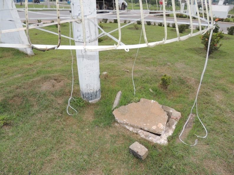 Decoração Natalina é alvo de vandalismo em Alta Floresta-1