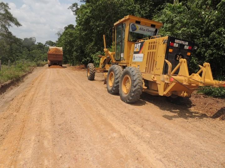 Recuperação da MT 325 sentido Juara e da vicinal Vale do Apiacás está em andamento-5