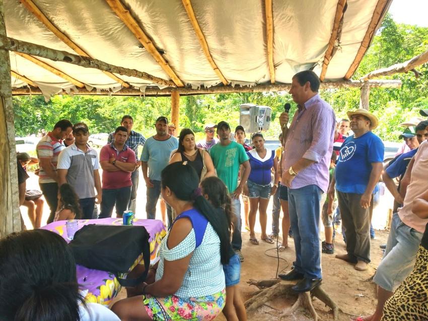 Prefeito de Paranaíta comemora mais um avanço do Acampamento São Pedro II