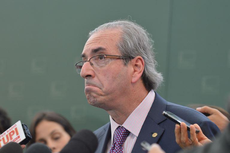 Brasília- DF- Brasil- 03/03/2015- O presidente da Câmara dos Deputados fala com a imprensa sobre CPI da Petrobras(Antônio Cruz/Agência Brasil)