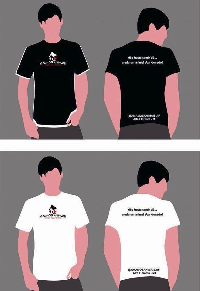 amamos animais camiseta