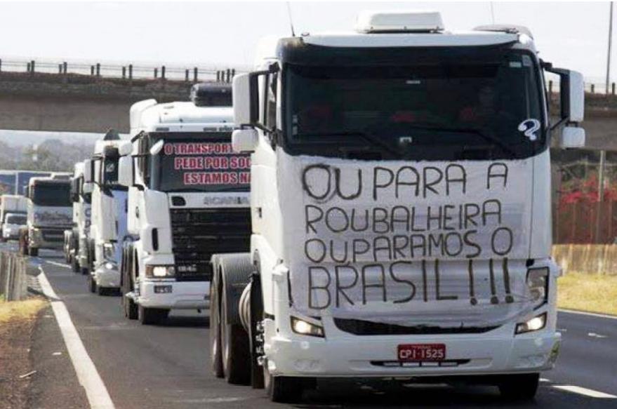 greve caminhoneiros