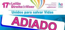 17º Leilão Direito de Viver é adiado devido à pandemia do novo coronavírus
