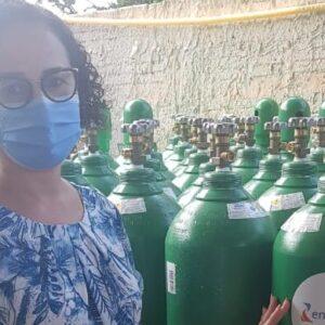 Energisa doa 100 cilindros de oxigênio ao governo de Mato Grosso