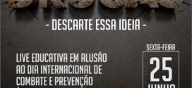 Alta Floresta: Saúde realizará live alusiva ao dia de combate e prevenção às drogas