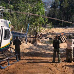 Fiscalização destrói acessos utilizados para desmate ilegal em unidades de conservação de Colniza