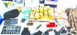PM recupera R$ 164,7 mil com suspeitos de roubo as cooperativas Sicredi e Sicoob
