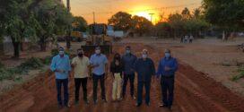 Prefeito Chico Gamba garante asfalto que dá acesso ao Parque das Nações, Bom Jardim e Vila Nova