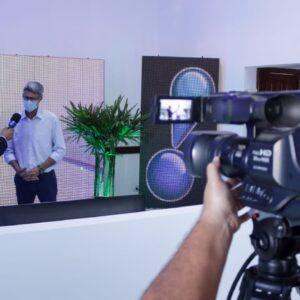 Prefeito Chico Gamba participa de inauguração de Rede TV em Alta Floresta