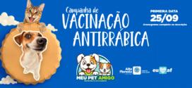 Prefeitura realiza primeira etapa da Campanha de Vacinação Antirrábica para cães e gatos neste sábado